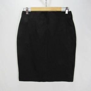Roz & Ali Black Straight Stretch Pencil Skirt M